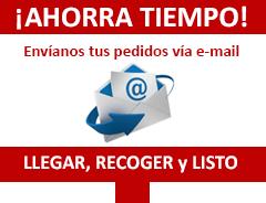 Envía tus pedidos por email a tu Copistería Copi-Servic