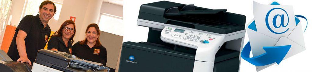 Escaneo de documentos, envío y recepción de Fax y correos electrónicos